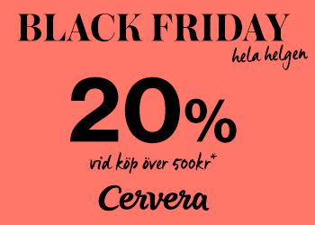 20% Black Friday-rabatt hos Cervera