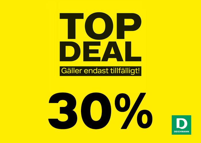 Top Deal hos Deichmann med 30% rabatt