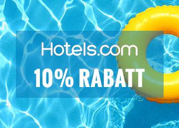 Få 10% rabatt på hotell hos Hotels.com