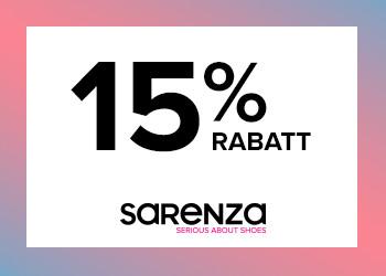15% exklusiv rabattkod till Sarenza