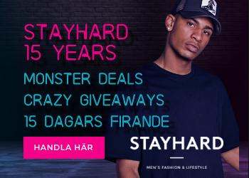Stayhard fyller 15 år och firar med deals!