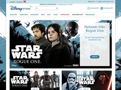 Disney Store Screenshot