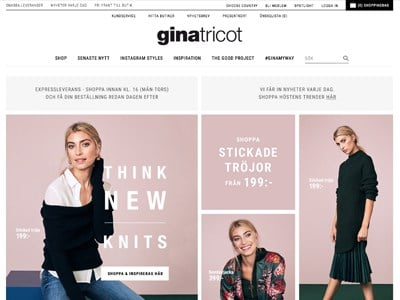Gina Tricot Screenshot