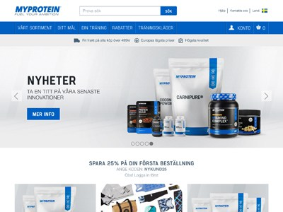 Myprotein Screenshot