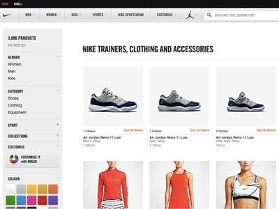 Nike Store Screenshot