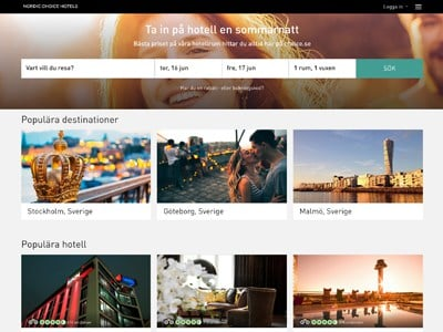 Nordic Choice Hotels Screenshot
