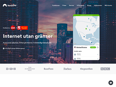 NordVPN Screenshot