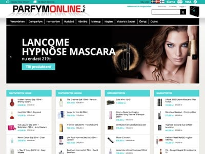 Parfymonline Screenshot