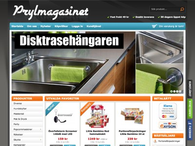 Prylmagasinet Screenshot