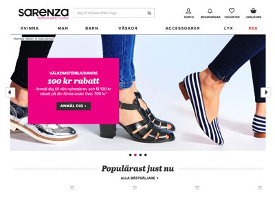 Sarenza Screenshot
