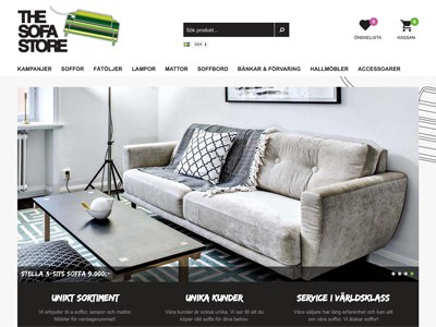 The Sofa Store Screenshot