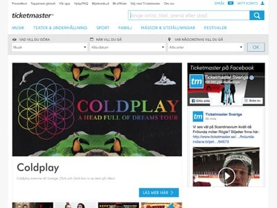 Ticketmaster Screenshot